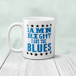 Damn Right I've got the Blues Music Coffee Mug