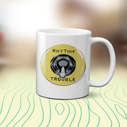 Rhythm and Trouble Guitar Coffee Mug