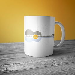 Guitar Reflection Coffee Mug