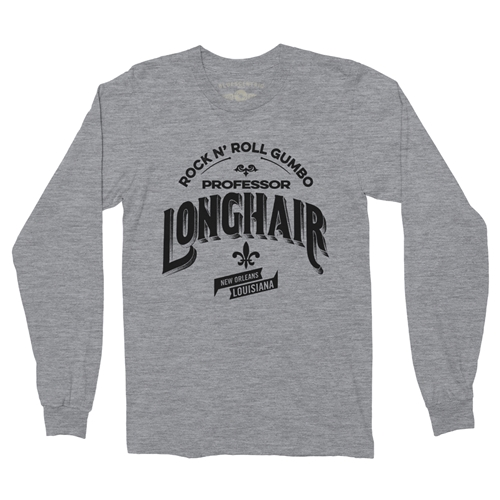 Professor Longhair Rock N Roll Gumbo Long Sleeve T Shirt