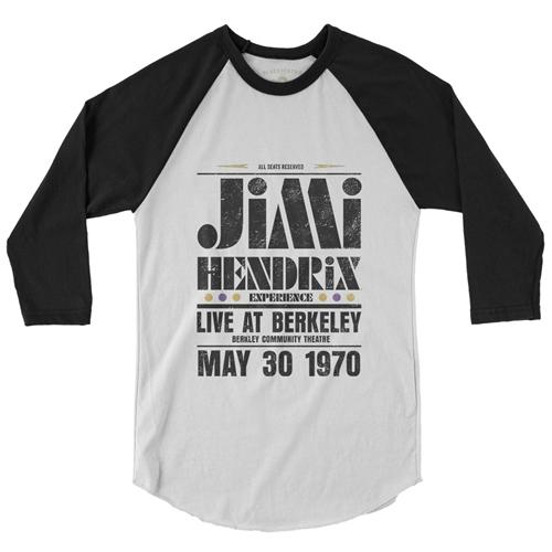 Jimi Hendrix Live at Berkeley Baseball T-Shirt