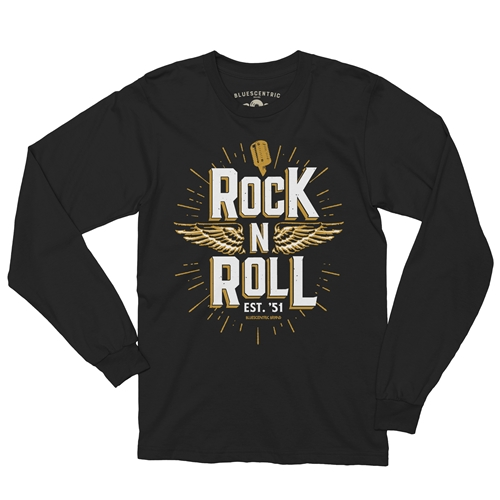 Long Sleeve Rock N Roll Music T Shirt