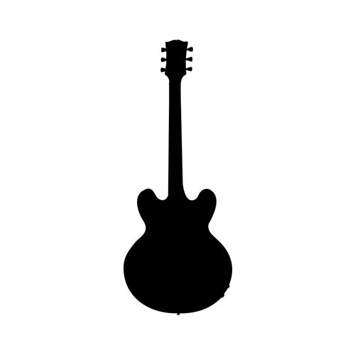Lucille Guitar Vinyl Decal Guitar Body Decal Bluescentric