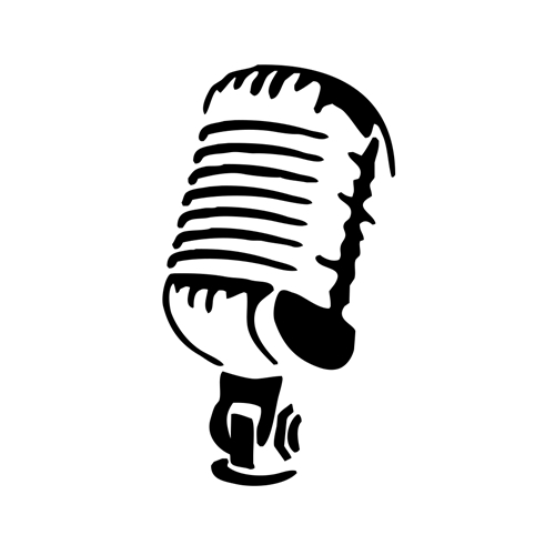 Microphone Vinyl Decal For Cars Windows Music