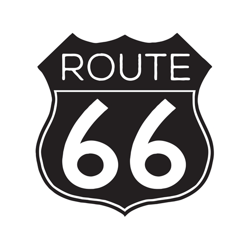 Route 66 Car Glass Or Guitar Case Vinyl Decal