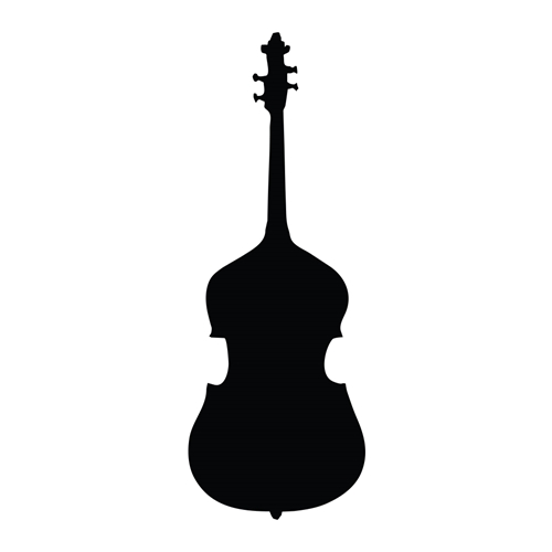 Stand Up Bass Car Glass Or Guitar Case Vinyl Decal