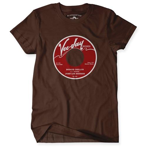 John Lee Hooker Vinyl Record T Shirt Classic Heavy Cotton