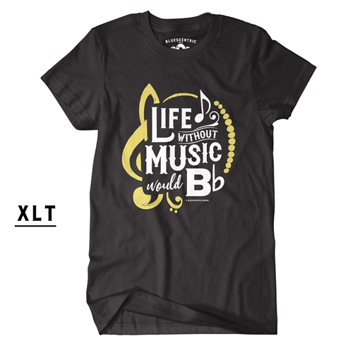 Xl Tall Life Without Music Would B Flat Tee Shirt