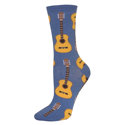 100% genuine fine quality exquisite craftsmanship Ladies Acoustic Guitar Socks Cornflower Blue