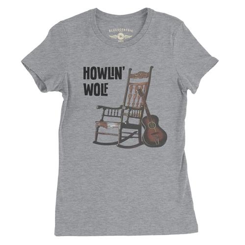 Ladies Howlin Wolf Rockin Chair T Shirt